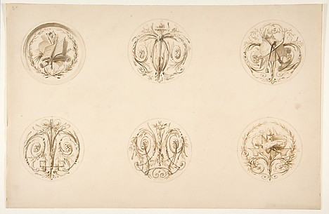 Six designs set in medallions
