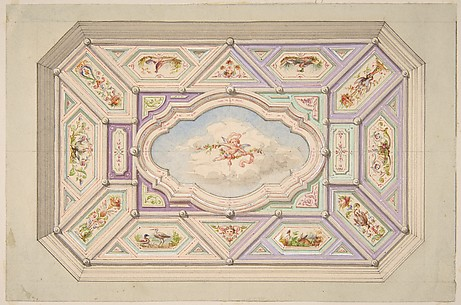 Design for a ceiling with a putto