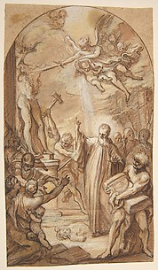 Saint Benedict Orders the Destruction of Idols at Montecassino