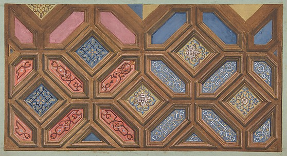 Alternate designs for the decoration of a coffered ceiling