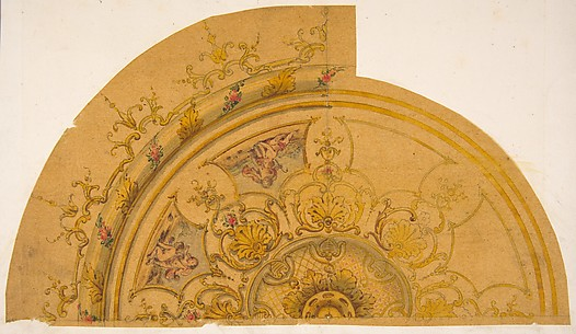Partial design for a circular ceiling decoration