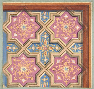 Partial design for the decoration of a ceiling
