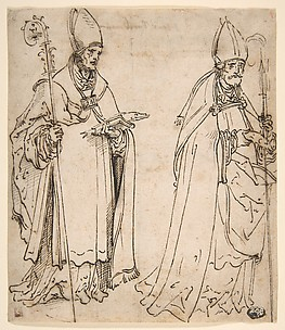 Two studies for Saint Ulrich of Augsburg