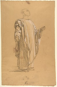 Saint Remi (lower register; study for wall paintings in the Chapel of Saint Remi, Sainte-Clotilde, Paris, 1858)