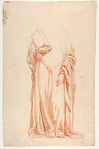 Drapery Study for Sainte-Clotilde (upper register; study for wall paintings in the Chapel of Saint Remi, Sainte-Clotilde, Paris, 1858)
