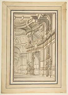Design for a Stage Set, Showing Right Half Only