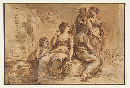 Five Young Women in a Landscape