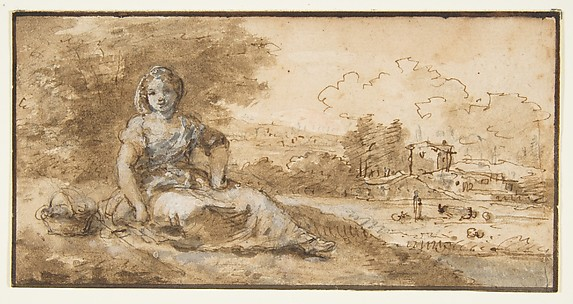 Seated Girl in a Landscape