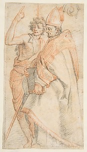 Saint John the Baptist and Saint Giovanni Gualberti, copy after Andrea del Sarto