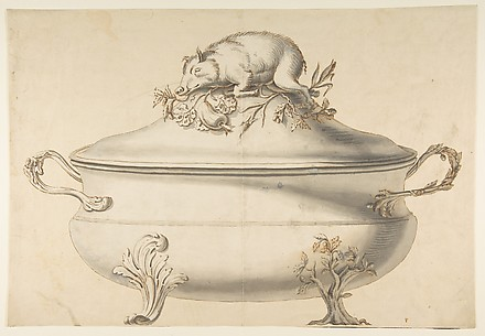 Design for a Soup Tureen with Pig on Top