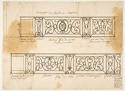 Two Designs for Iron Balconies