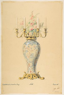 Design for a Vase with Candelabra