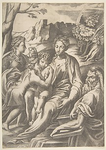 The Holy Family with Magdalen and John the Baptist