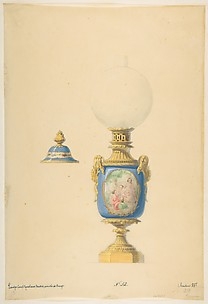 Design for an Oil Lamp and Lid