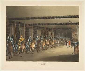 Horse Armoury, Tower of London, Microcosm of London, plate 101