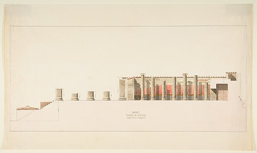 Cross-Section of the Temple of Jupiter, Pompeii