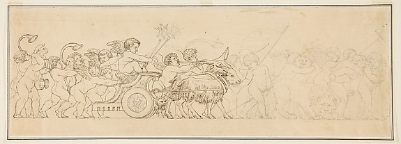 Design for a Frieze with a Procession of Putti