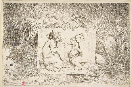 Bacchanale - Satyr and Nymph with Infant and Infant Satyr