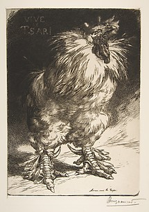 The Gallic Cock -- Long Live the Czar! (Le Coq Gaulois -- Vive le Tsar!) (from L'Estampe originale)