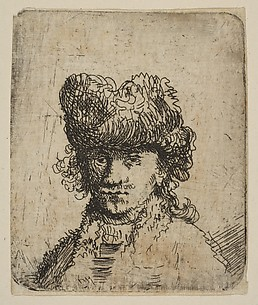 Self-Portrait in a Fur Cap: Bust (reverse copy)