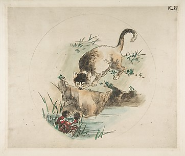 Cat and Crab (Decoration for a Plate)