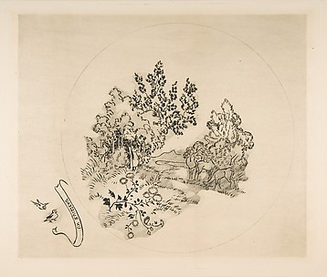 A Stream (Decoration for a Plate)