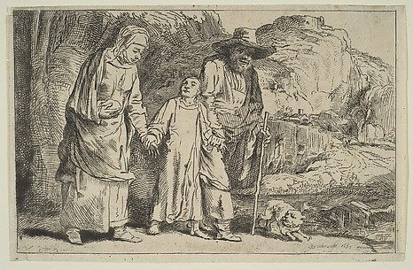 Christ Between His Parents Returning from the Temple
