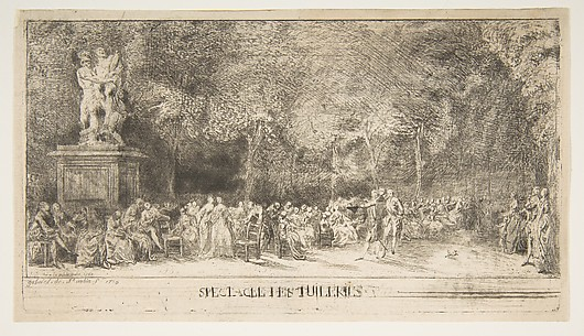 Scene in the Tuileries:  The Chairs