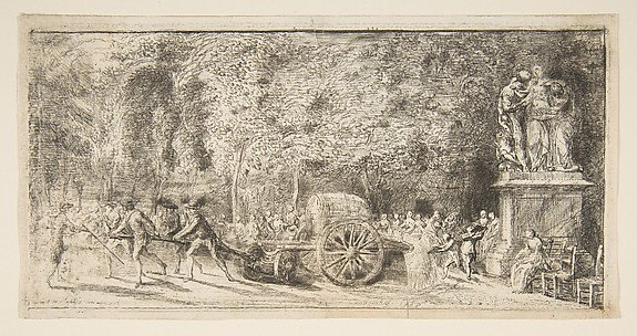 Scene in the Tuileries:  The Watering Cart