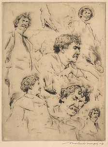 Whistler–Six Studies with the Head of a Young Girl