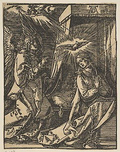 The Annunciation, from the Small Passion, copy
