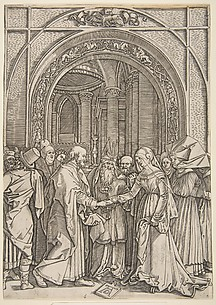 copy after Durer: The marriage of the Virgin