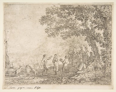 The Country Dance (Large Plate)