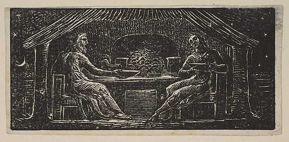 Thenot and Colinet Eat Their Evening Meal, from Thornton's Pastorals of Virgil