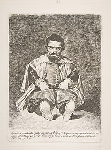 Potrait of Sebastian de Morra, Dwarf of Philip IV (Un enano), from Etchings after Velazquez