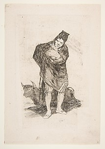 Andalusian Smuggler with Bull, from Bordeaux Etchings