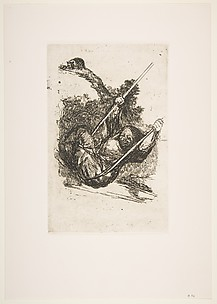 Witch on a Swing, from Bordeaux Etchings