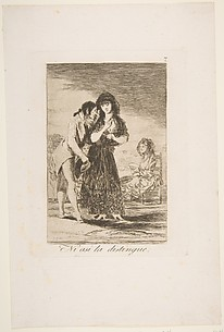 Even Thus He Cannot Make Her Out (Ni asi la distingue), from The Caprices (Los Caprichos), plate 7