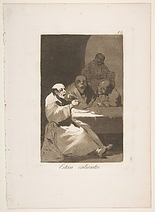 They are Hot (Estan Calientes), from The Caprices (Los Caprichos), plate 13