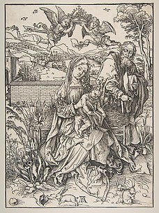 The Holy Family with Three Hares