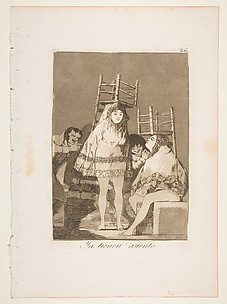They've Already Got a Seat (Ya Tienen Asiento), from The Caprices (Los Caprichos), plate 26