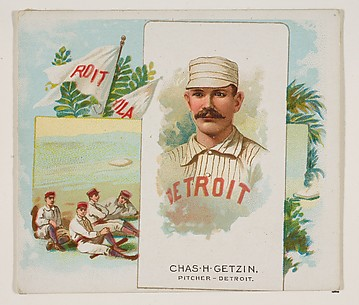 Charles H. Getzien, Pitcher, Detroit, from World's Champions, Second Series (N43) for Allen & Ginter Cigarettes
