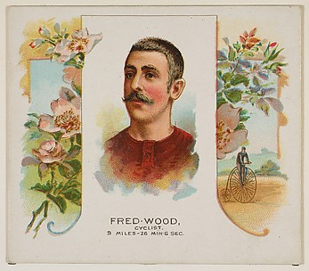 Fred Wood, Cyclist, from World's Champions, Second Series (N43) for Allen & Ginter Cigarettes