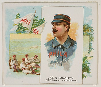 James H. Fogarty, Right Fielder, Philadelphia, from World's Champions, Second Series (N43) for Allen & Ginter Cigarettes