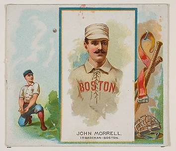 John Morrell, 1st Baseman, Boston, from World's Champions, Second Series (N43) for Allen & Ginter Cigarettes