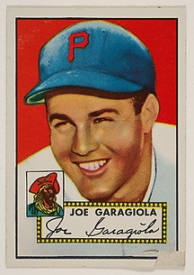 Card Number 227, Joe Garagiola, Pittsburgh Pirates, from the Topps Baseball series (R414-6) issued by Topps Chewing Gum Company