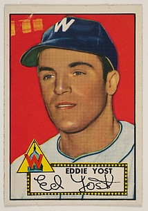 Card Number 123, Edward Yost, Washington, from the Topps Baseball series (R414-6) issued by Topps Chewing Gum Company