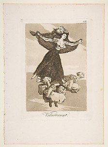 They have flown (Volaverunt), from The Caprices (Los Caprichos), plate 61