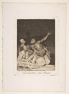 When day breaks we will be off (Si amanece; nos vamos), from The Caprices (Los Caprichos), plate 71