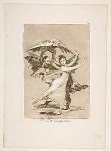 You Will Not Escape (No te escaparàs), from The Caprices (Los Caprichos), plate 72